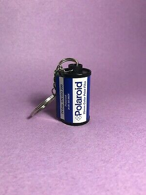 35mm Polaroid Film Canister Keychain