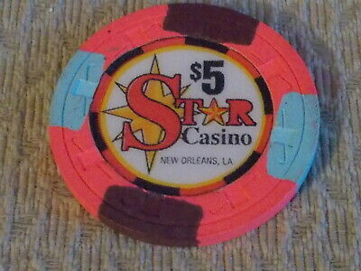 STAR CASINO HOTEL $5 casino gaming poker chip ~ New Orleans, LA
