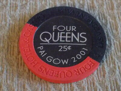 FOUR QUEENS CASINO 25¢ (25 cents) hotel casino gaming poker chip ~Las Vegas, NV