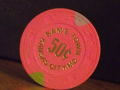 SAM'S TOWN CASINO HOTEL 50¢ (50 cents) hotel casino gaming poker chip ~ MO