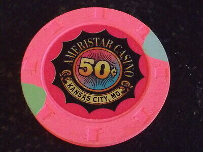 AMERISTAR CASINO HOTEL 50¢ (50 cents) hotel casino gaming poker chip ~ MO