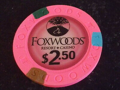 FOXWOODS CASINO $2.50 hotel casino gaming poker chip ~ Connecticut