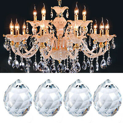 Clear Glass Crystal Lamp Chandelier Drop Pendant Prism Home Hanging Decor 20mm