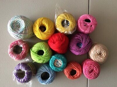 Mixed Lot Of Crochet  Cotton Thread Yarn 280 G