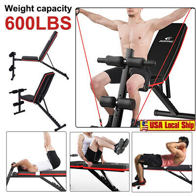 Folding Adjustable Sit Up AB Incline Abs Bench Flat Fly Weight Press Gym Board