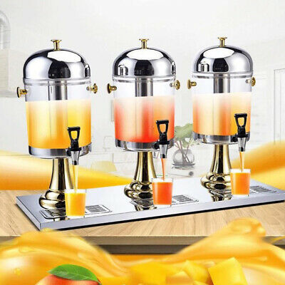 Commercial Juice Beverage Refrigerated Drink Dispenser Machine Stainless Steel