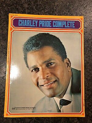 Circa 1960's CHARLEY PRIDE COMPLETE Song Book Sheet Music Photos 111 pages