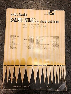 1961 WORLD'S FAVORITE SACRED SONGS FOR CHURCH AND HOME Vocal Organ Piano