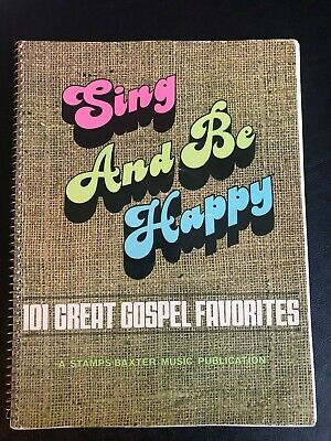 1977 SING AND BE HAPPY 100 Great Gospel Favorites Sheet Music Book Jack Taylor