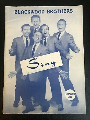 Vintage 1958 Blackwood Brothers SING Sheet Music Book Autograph James Blackwood