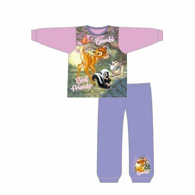 Girls Disney Bambi And Friends Snuggle Fit Pyjamas
