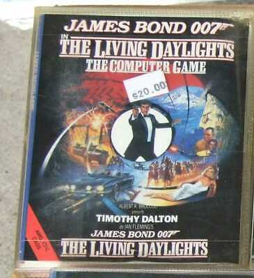 James Bond 007 The Living Daylights game for the Amstrad CPC vintage computer