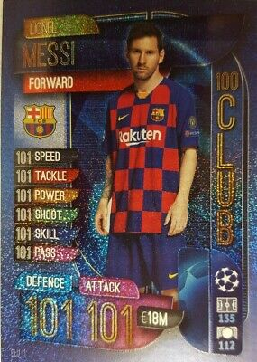 2019/20 Topps UEFA Champions League Match Attax 100 CLUB Card USA LIONEL MESSI