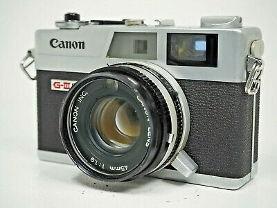 """AsIs"" CANON Canonet QL19 G-III Silver Rangefinder 35mm Film Camera From Japan"