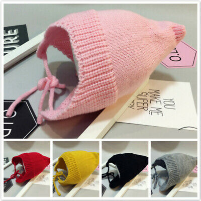 Baby Kid Girl Toddler Knitted Woolen Hat Beanie Bonnet Winter Warm Head Care Hat
