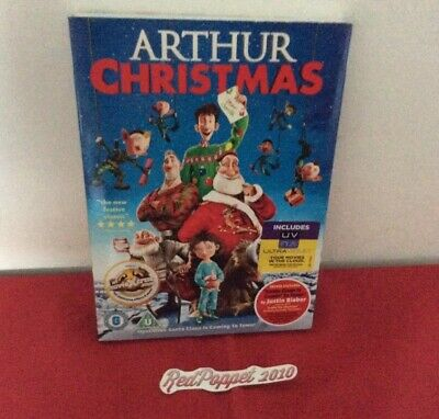Arthur Christmas - dvd vgc - in cardbord sleeve and with Ultra Violet.