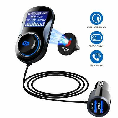 SONRU Upgraded Bluetooth FM Transmitter QC3.0, Bluetooth Car Radio Transmitter