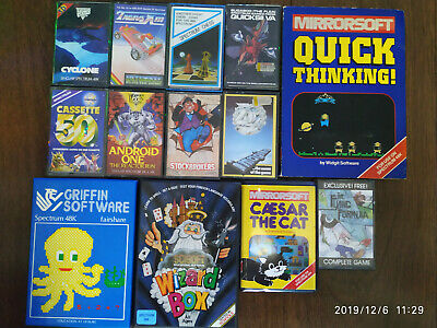 Various Sinclair ZX Spectrum games. Tranz am, Zoom, Android One