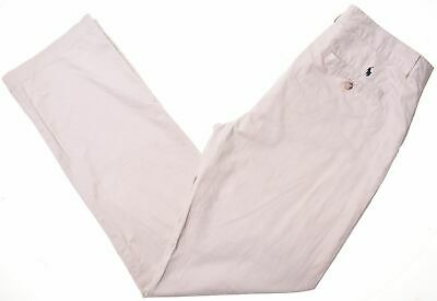 POLO RALPH LAUREN Boys Chino Trousers 15-16 Years W32 L33 Beige Cotton  LY09