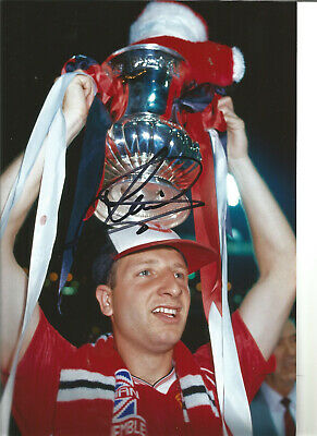 Football Autograph Lee Martin Manchester United Signed 12x8 in Photograph JM54