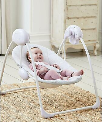 Deluxe Foldable Baby Bouncer Grey Elephant First Swing Soothing Music & Toys 143