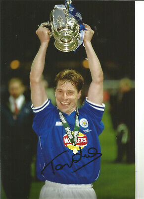 Football Autograph Tony Cottee Leicester City FC Signed 12x8 in Photograph JM57