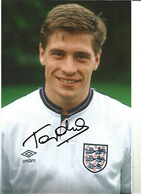 Football Autograph Tony Cottee England Signed 12x8 in Photograph JM59