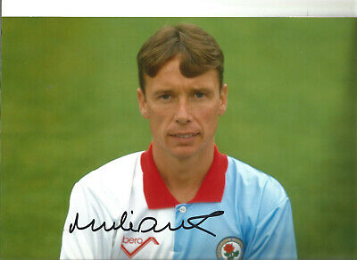 Football Autograph Mike Duxbury Blackburn Rovers Signed 12x8 in Photograph JM62