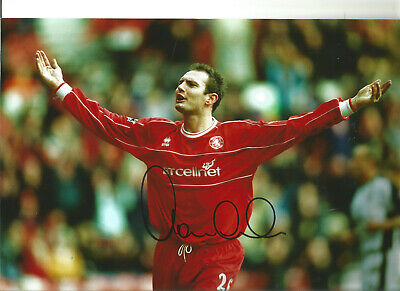 Football Autograph Noel Whelan Middlesbrough Signed 12x8 in Photograph JM64