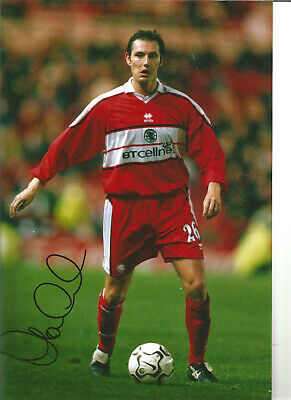 Football Autograph Noel Whelan Middlesbrough Signed 12x8 in Photograph JM65