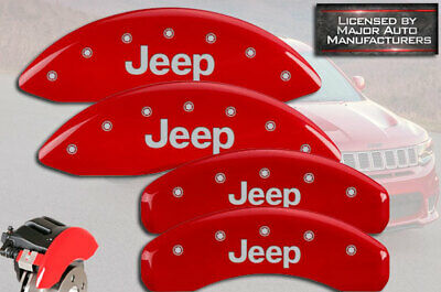 MGP Caliper Covers for Jeep Grand Cherokee 99-02 Red Front /& Rear 12051SMGPRD