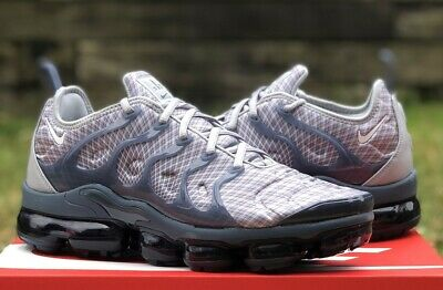 Nike Air Vapormax Plus Running Shoes 924453-019 New Mens Wolf Grey / White