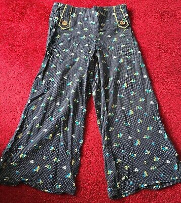 Girls Blue Loose Fit Trousers From NEXT Size 7 Years