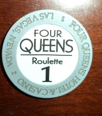 Roulette Chip from FOUR QUEENS Hotel & Casino!  Used - Fremont Street Las Vegas!