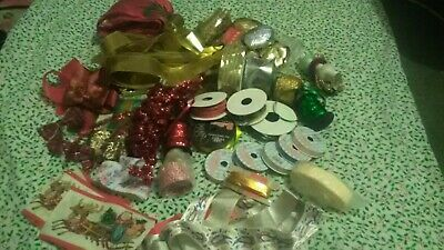 Christmas And Assorted Ribbons Some  Used off rolls