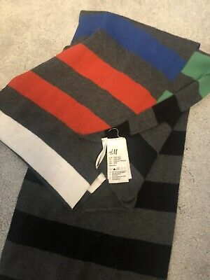 Boys Striped Scarf Red Green Grey Blue Black From H&m