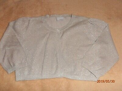 NEXT Lovely Girls One Button Cardigan in Grey 3/4 Sleeve Age 9-10 years