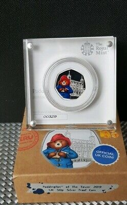 2019 Paddington Bear At The Tower Of London Silver Proof 50p VERY LOW 00329 COA