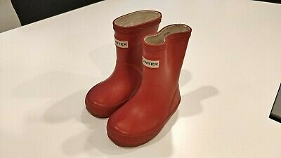 Hunter Wellies Infant Size 4 Red