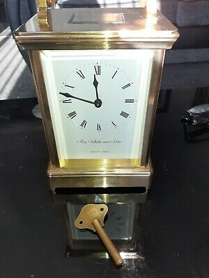 Antique carriage clock striking