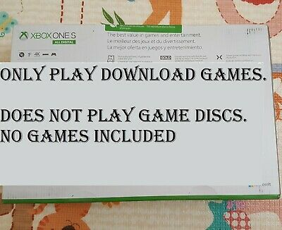 Brand New Microsoft Xbox One S All-Digital 1TB Console+Controller only (No game)