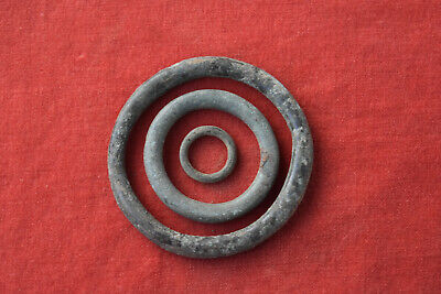 Ancient Celtic Bronze rings Proto Money Coin