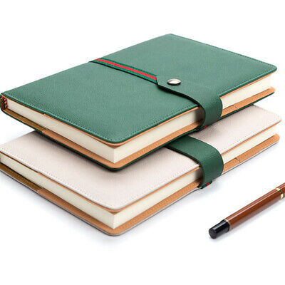 A5 PU Leather Vintage Journal Notebook Lined Paper Diary Planner Freenote Buckle