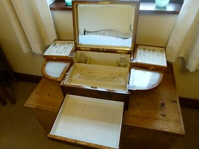 Very Large 1900 - 1910 Mappin & Webb Table Jewellery Box With Marble Inserts.