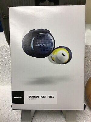 Bose SoundSport Free Wireless Headphones In-Ear Used Navy/Citron