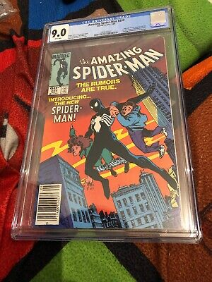The Amazing Spider-Man #252 CGC 9.0 White Pages 1st App Black Suit Marvel Comics