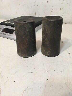 Pair Of Antique Iron Clock Weights From 30 Hour New Haven Ogee Clock