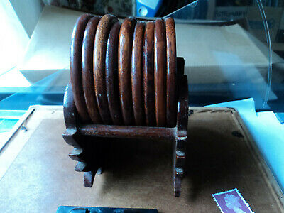 9 wooden coasters from Myanmar