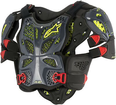 Alpinestars A-10 Full Chest Protector Anthracite/Red Xs/Sm
