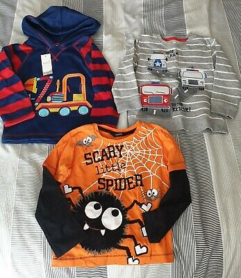 Boys Age2-3 Long Sleeved Top Bundle Halloween vehicles fleece autumn winter